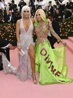 "Jennifer Lopez, left, and designer Donatella Versace attend The Metropolitan Museum of Art's Costume Institute benefit gala celebrating the opening of the ""Camp: Notes on Fashion"" exhibition on Monday, May 6, 2019, in New York. (Photo by Charles Sykes/Invision/AP)"