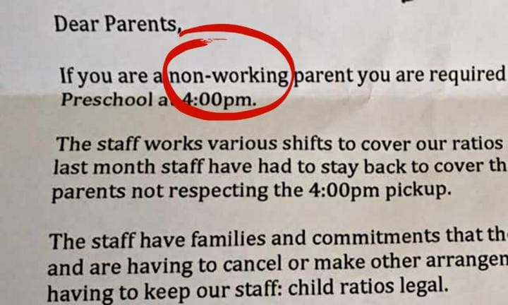 The childcare letter that's causing outrage