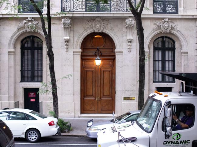 Jeffrey Epstein's $A110 million-dollar townhouse on New York's Upper East Side. Picture: Getty Images/AFP