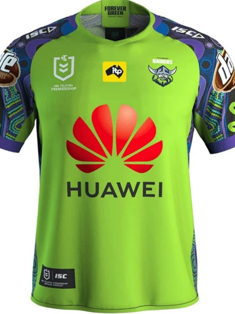Raiders Indigenous Jersey. Source: Canberra Raiders