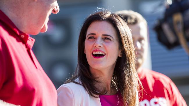 "Labor candidate Ali France told reporters she was ""excited"" to see the results. Picture: Glenn Hunt/AAP Image"