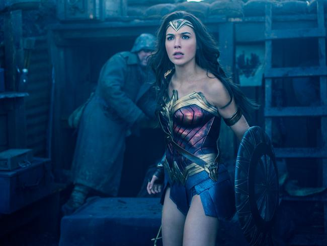 """After previous DCEU films have been critically mauled as """"dour"""", Gal Gadot and Wonder Woman have been praised for bringing light and humour into the superhero universe. Picture: Warner Bros."""