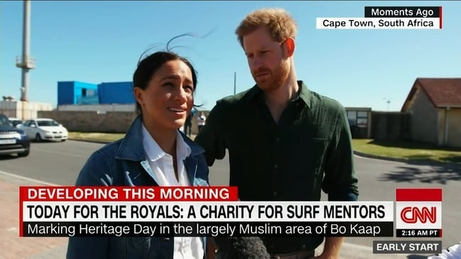 Prince Harry and Meghan Markle talk about Africa mission (CNN)