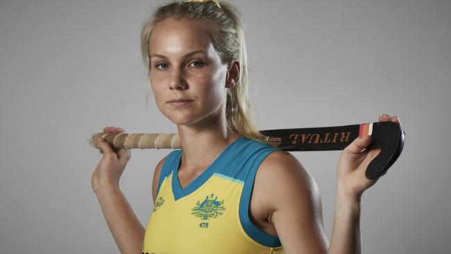 Hockeyroos player and Townsville junior Stephanie Kershaw. Pic: Daniel Carson.