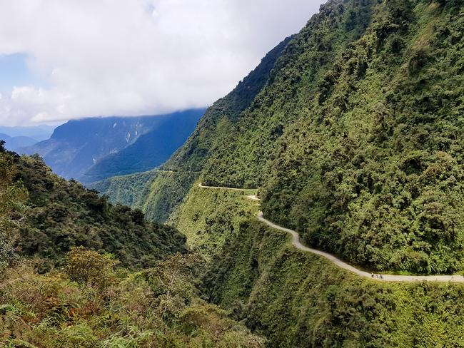 The Death Road in Bolivia is a drawcard for daring tourists.