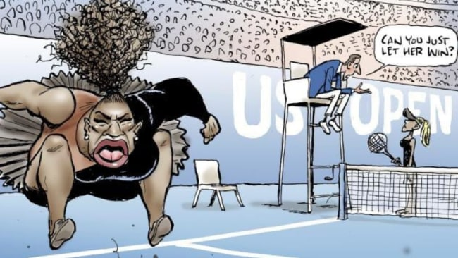 Mark Knight's Serena Williams cartoon. Source:AP