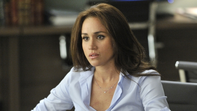 "Meghan Markle in TV series SUITS Suits -- ""Zane vs. Zane"" Episode 213 -- Pictured: Meghan Markle as Rachel Zane -- (Photo by: Ben Mark Holzberg/USA Network)"