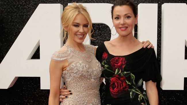 Australian icons ... Kylie Minogue and Tina Arena are reunited on the ARIA red carpet. Picture: Mark Metcalfe/Getty Images
