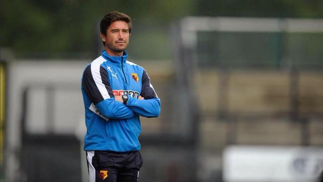 Harry Kewell during his time with Watford Under-23s.