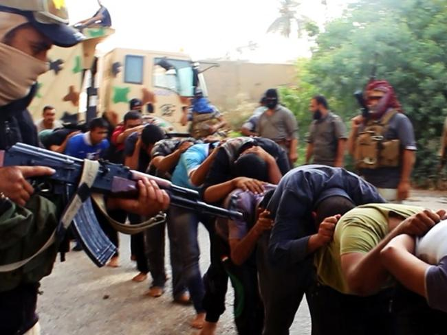 Militants of the Islamic State of Iraq and Syria (ISIS) slaughtered dozens on Iraqi soldiers.