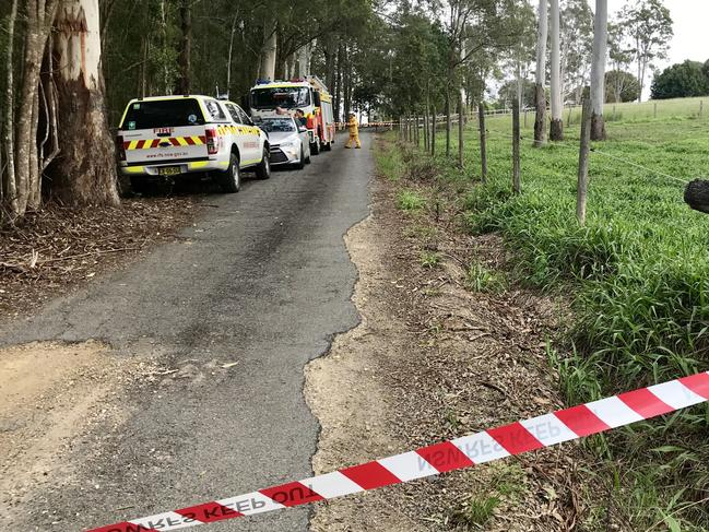 The bomb squad and NSW Fire and Rescue are at the scene. Picture: Nathan Edwards