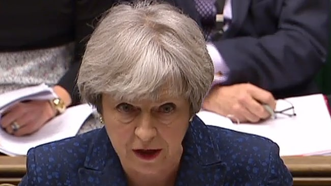 British Prime Minister Theresa May in 2018. Image: AFP/Pru Ho