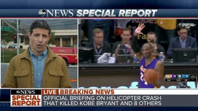 ABC suspends correspondent over major mistake in Kobe Bryant crash report (ABC News)