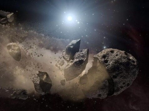 A top defensive idea has always been to knock an incoming asteroid off course or obliterate it. Picture: NASA/JPL-Caltech
