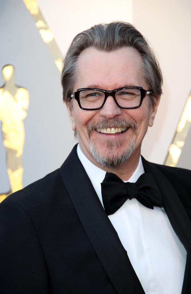 Gary Oldman arrives at the 90th Academy Awards. Picture: Mega