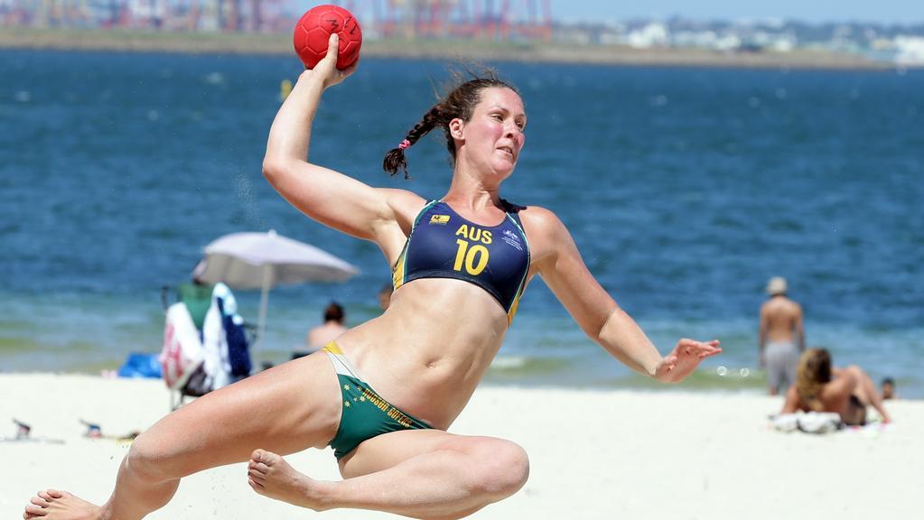 junior beach handball players aiming for 2018 youth olympics news