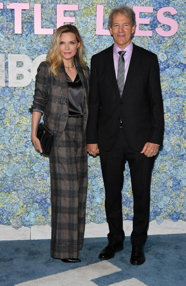Big Little Lies' creator David E. Kelley with his wife, actor Michelle Pfeiffer. Picture: Getty Images
