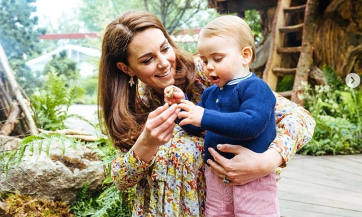 Kate and William's kids romp in the garden like us