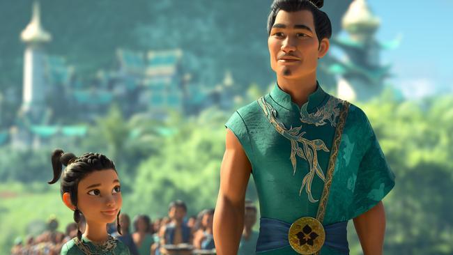 Daniel Dae Kim voices Raya's father. Picture: Disney