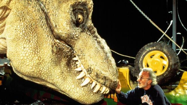 Stan Winston with the imposing T. rex. Picture: Everett Collection.