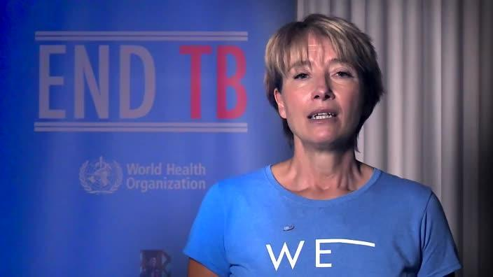 Emma Thomson calls for public help to eradicate tuberculosis