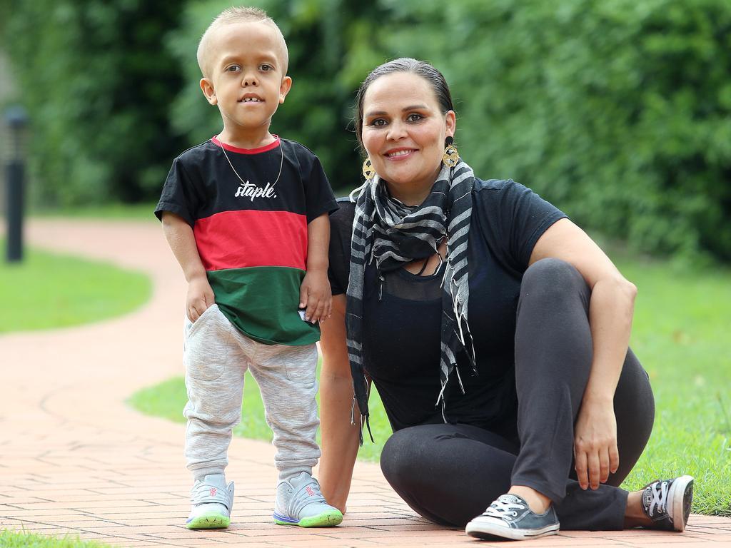Yarraka Bayles poses with son Quaden.