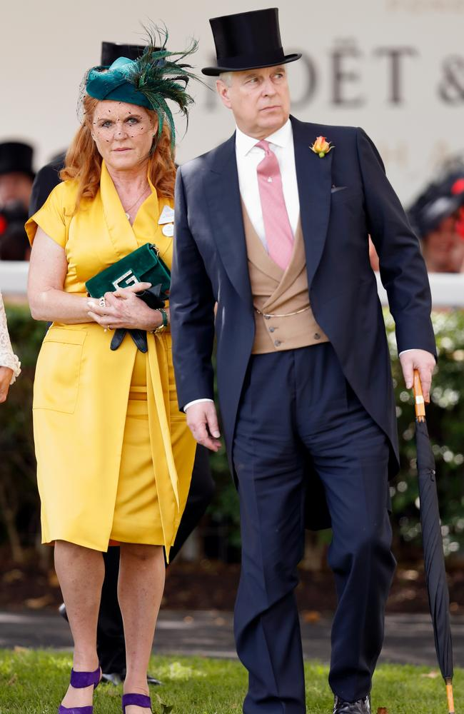 All dressed up, but no party to go to? Prince Andrew and ex-wife Sarah Ferguson. Picture: Getty
