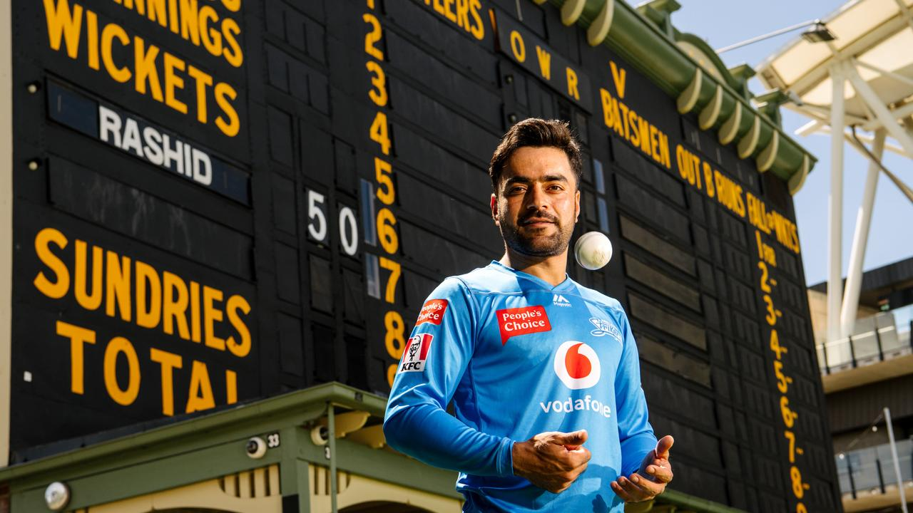 Afghanistan spinner Rashid Khan has made Adelaide Oval his own. Photo: Getty Images