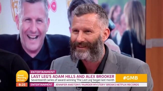 Adam Hills' awkward run-in with Piers Morgan (GMB)