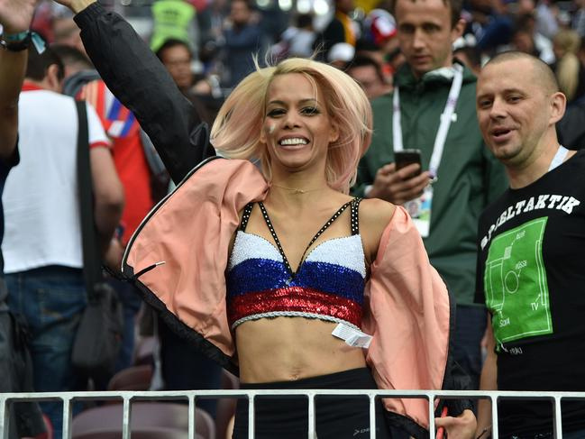 A fan photographed at this year's World Cup. Picture: KCS Presse/MEGA