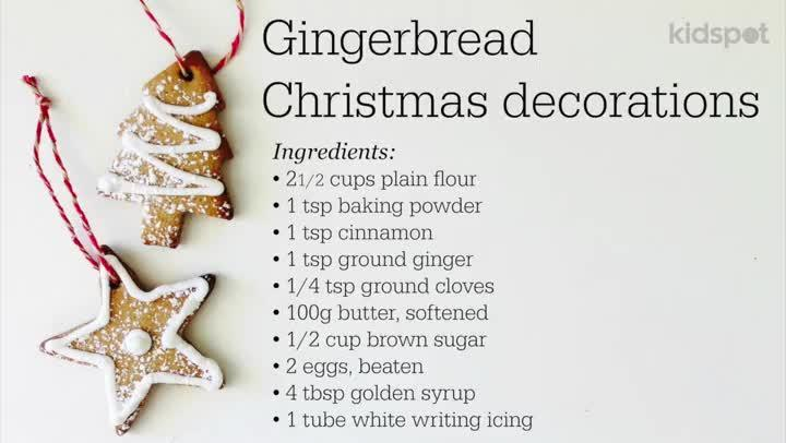 How to make gingerbread Christmas decorations