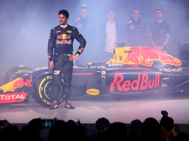 Ricciardo at the Red Bull season launch in 2016.
