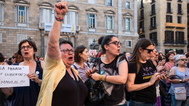 The ruling has once again ignited outrage over the Spanish judiciary's treatment of women. Image: Getty