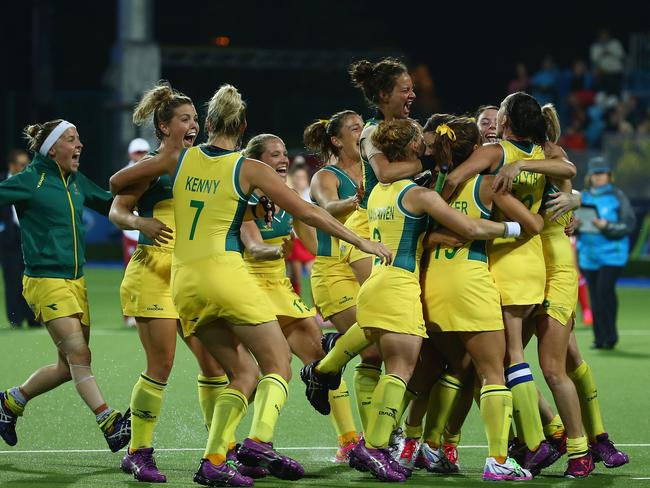 The Hockeyroos were another Aussie success golden story in Glasgow, despite not having won a medal at the last three Olympics. (Photo by Robert Cianflone/Getty Images)