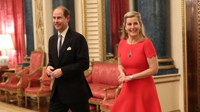 Prince Edward and Sophie, Countess of Wessex, at a reception at Buckingham Palace last week. Picture: Yui Mok – WPA Pool/Getty Images