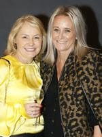 Michelle Flood and Andree Joyce, both of Clayfield, at the Y Women lunch for Youngcare. Picture: Just Photography