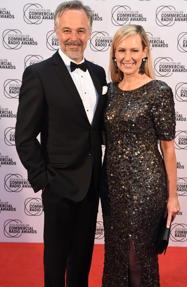 Cameron Daddo and Melissa Doyle from Smooth FM stepped out for the annual radio awards. Picture: Lawrence Pinder
