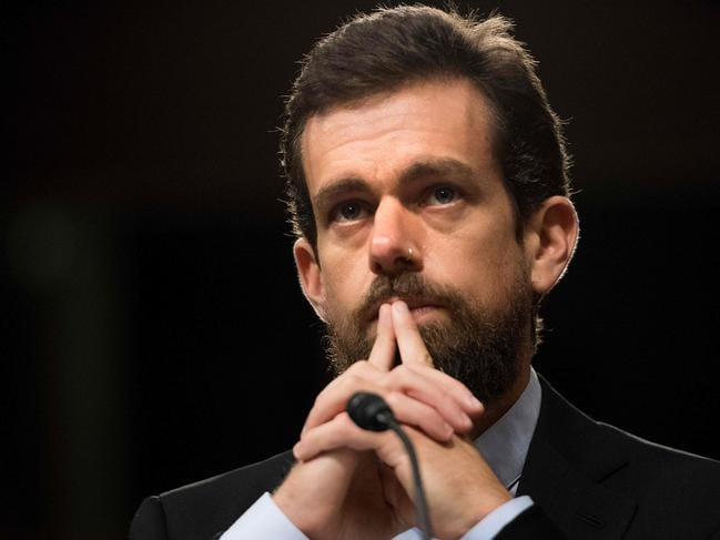 A Twitter spokesperson would not confirm which mobile phone carrier Dorsey's currently with. Picture: Jim Watson/AFP.