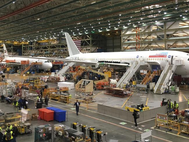 Boeing factory in Seattle where Qantas's new 787-9s will be built. Picture: Robyn Ironside