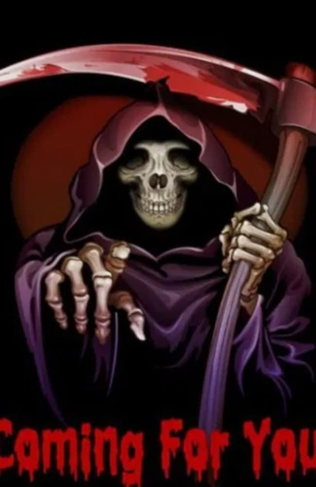 Sarah also posted a number of images involving the Grim Reaper. Picture: Supplied