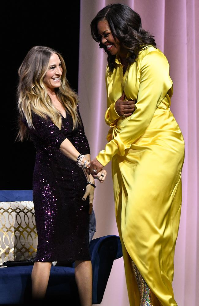 Sarah Jessica Parker and Michelle Obama. Picture: Getty Images