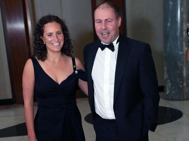 Josh Frydenberg and his wife Amie. Pic: Gary Ramage