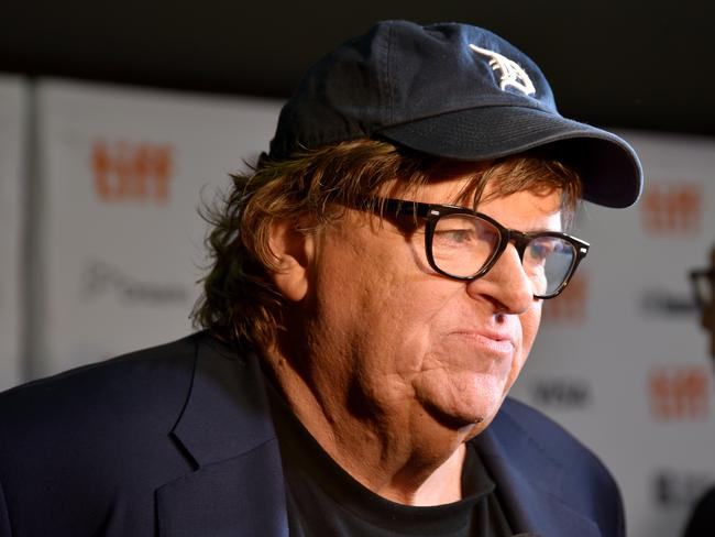 "Michael Moore attends the ""Fahrenheit 11/9"" premiere during 2018 Toronto International Film Festival. Picture: Getty."
