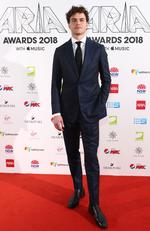SYDNEY, AUSTRALIA - NOVEMBER 28: Vance Joy arrives for the 32nd Annual ARIA Awards 2018 at The Star on November 28, 2018 in Sydney, Australia. (Photo by Mark Metcalfe/Getty Images)