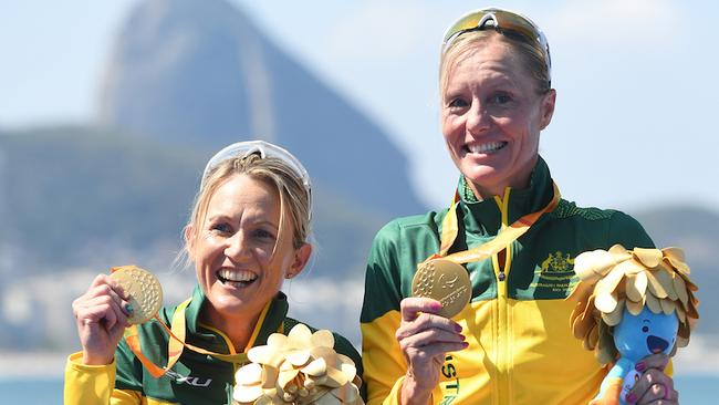 Katie Kelly and guide Michellie Jones won gold in Rio in the Para-triathlon.