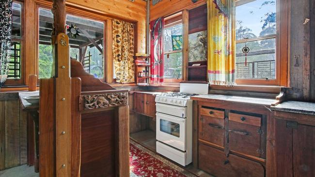 With an oven and gas cooktop installed, rustic doesn't mean forgoing all the modern conveniences.