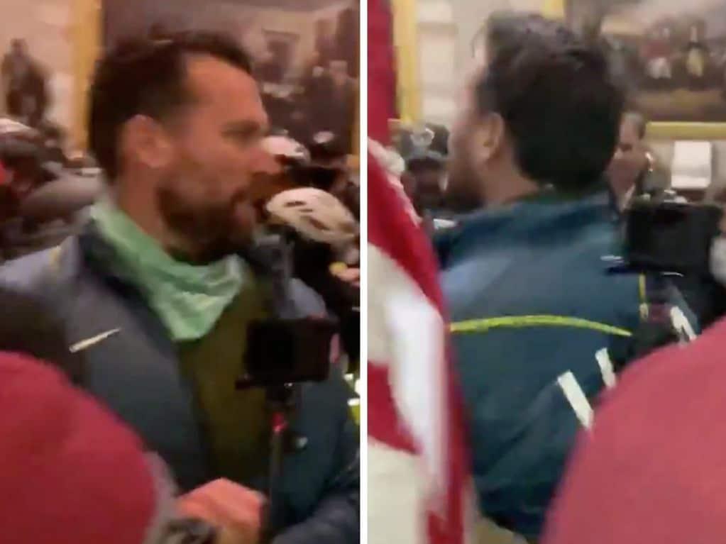 Klete Keller was seen wearing a US Olympic team jacket inside the US Capitol.