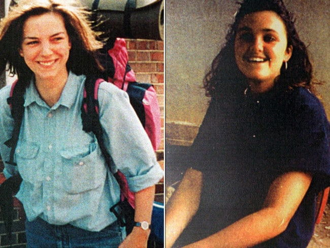 Caroline Clarke (left) and Joanne Walters (right) left Sydney to hitchhike around Australia; their bodies were found five months later at Belanglo.