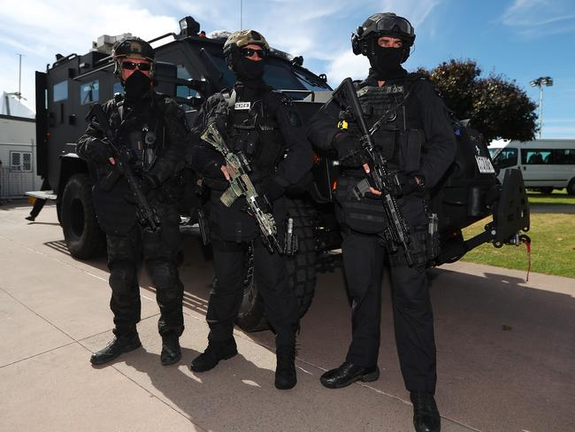 Queensland SERT officers demonstrate their capabilities ahead of the Gold Coast Commonwealth Games.