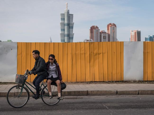 Travel to North Korea is possible — if not recommended — and usually via China. Picture: AFP/Ed Jones